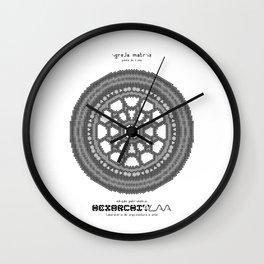 HexArchi - Portugal, Ponte de Lima, Igreja Matriz . Rosácea Wall Clock