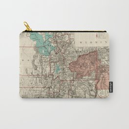 Vintage Map of Utah (1889) Carry-All Pouch