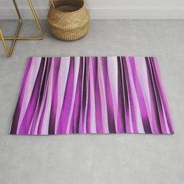 Lavender, Iris and Grape Stripy Pattern Rug