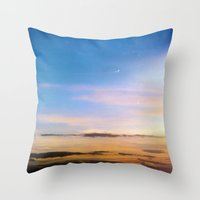 spanish Throw Pillows featuring Spanish Skies by Chloe Gibb