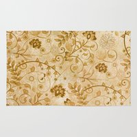 floral pattern Area & Throw Rugs featuring Floral pattern by nicky2342