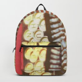 Typewriter photograph print. Remy. Backpack