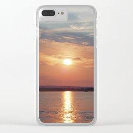 Lake Champlain sunset Clear iPhone Case