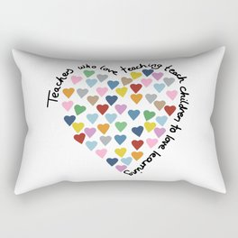 Hearts Heart Teacher Rectangular Pillow