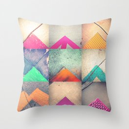 Bright Triangles Throw Pillow
