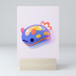 Jelly bean sea slug - dark Mini Art Print