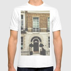London Facade  MEDIUM Mens Fitted Tee White