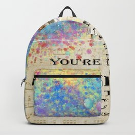 Starry Night Tea Party - Bonkers Quote - Alice In Wonderland Backpack