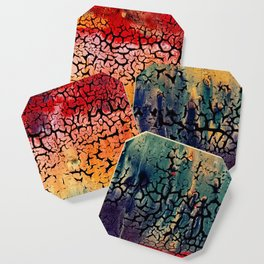 Sunset into the Forest - closeup Coaster