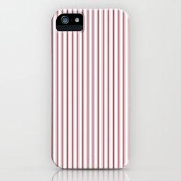 Dark Red Pear Mattress Ticking Narrow Striped Pattern - Fall Fashion 2018 iPhone Case