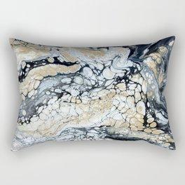 Bold Black Gold & White Abstract Rectangular Pillow