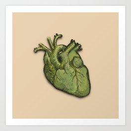 Green heart Art Print