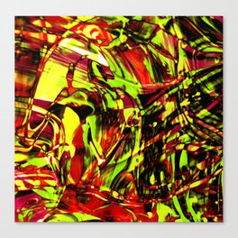 Fluid Painting 2 (Yellow Version) Canvas Print