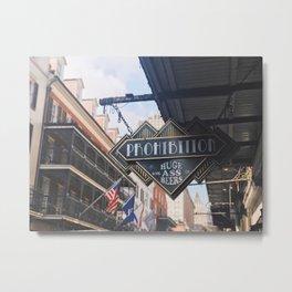 Bourbon Street: A Summary Metal Print