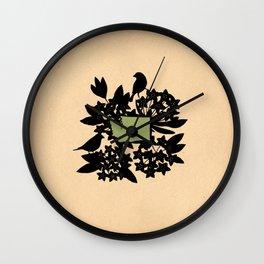 Washington - State Papercut Print Wall Clock