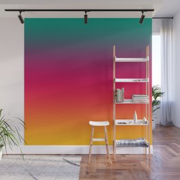 Poseidon - Classic Colorful Warm Abstract Minimal Retro Style Color Gradient Wall Mural