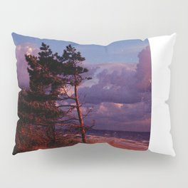 Red Pine and Moon Pillow Sham