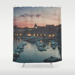 red sky at night ... Shower Curtain