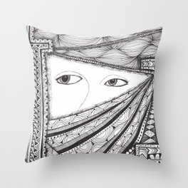 Shifty Eyes Throw Pillow
