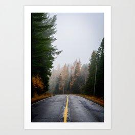 Fog and Fall Colour Art Print