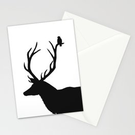 Black & White - Buck and Bird Stationery Cards