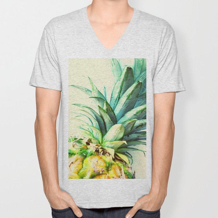 Green Pineapple Unisex V-Neck
