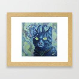 Unholy Kitty Framed Art Print
