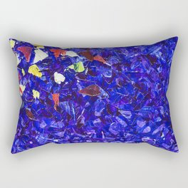 Picturesque dark blue Rectangular Pillow