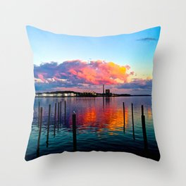 Long Wharf Throw Pillow