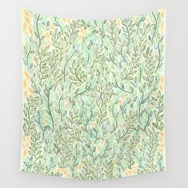 Green and Yellow Leaves Wall Tapestry