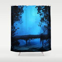 Blue Surroundings Shower Curtain