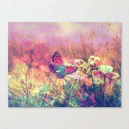 Butterfly in a Wonderworld Canvas Print