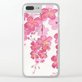 Weeping Cherry Blossom Clear iPhone Case