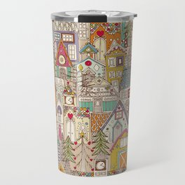 vintage gingerbread town Travel Mug