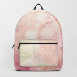 Watercolor Pink Floral Background Backpack