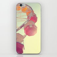 ferris wheel iPhone & iPod Skins featuring ferris wheel by shannonblue