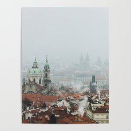 Cold Mornings over Prague Poster
