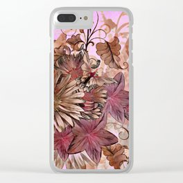 Floral Flourish Clear iPhone Case