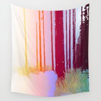 forrest Wall Tapestries featuring Color Forrest by Darla Designs
