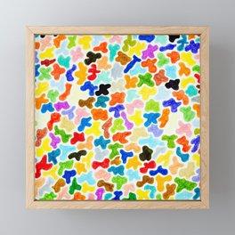 Plentiful Blobs Framed Mini Art Print