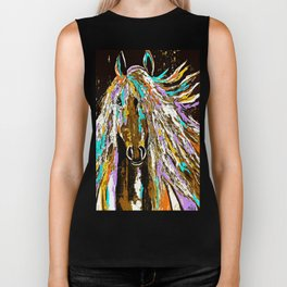 Horse Abstract Oil Painting Biker Tank
