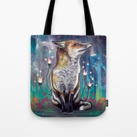 justin timberlake Tote Bags featuring There is a Light by Mat Miller