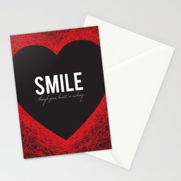 02. Smile though your heart is aching Stationery Cards