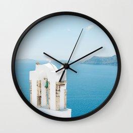 Church on Santorini Island Greece Oia Wall Clock