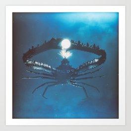 Cracked Crab Art Print