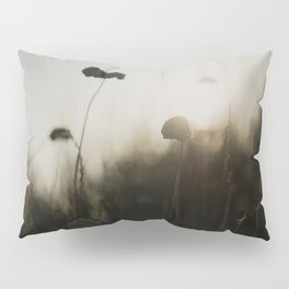 flowers silhouetted against the morning light ... Pillow Sham