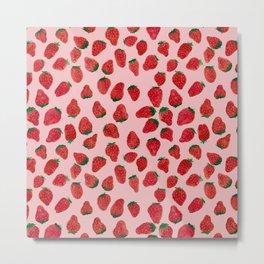 Strawberries Metal Print