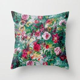 Stormy garden Throw Pillow