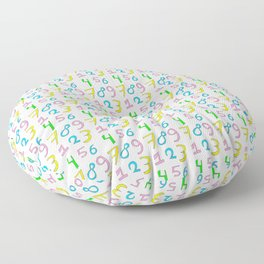 number 1- count,math,arithmetic,calculation,digit,numerical,child,school Floor Pillow