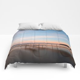 Saratoga Lake Sunset Comforters